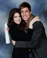 Celebrity Hairstylist Anthony Pazos and Ashley Greene