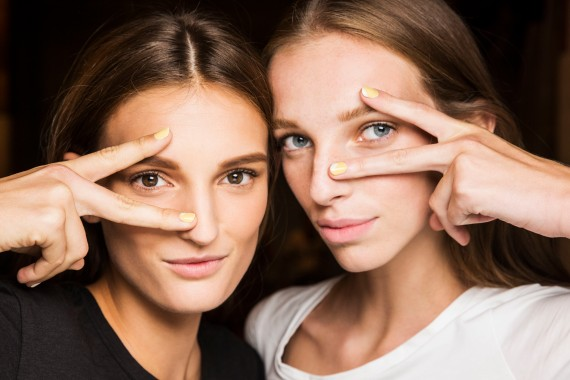 Backstage at Prabal Gurung during New York Fashion Week Spring Summer 2015 Collections